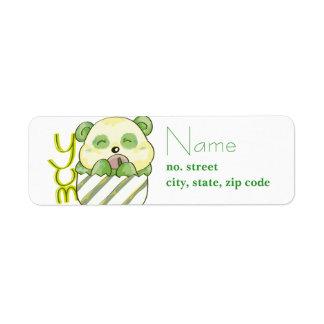 Panda Eating Bambo Label