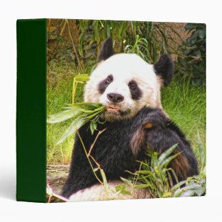 Panda Eating Bamboo 3 Ring Binder