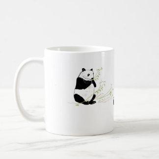 Panda Eating Bamboo, add name Classic White Coffee Mug