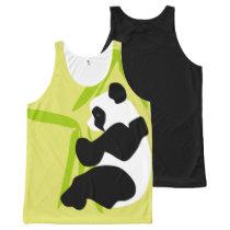 Panda Eating Bamboo All-Over-Print Tank Top
