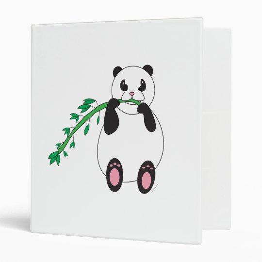 Panda Eating Bamboo Avery Binder