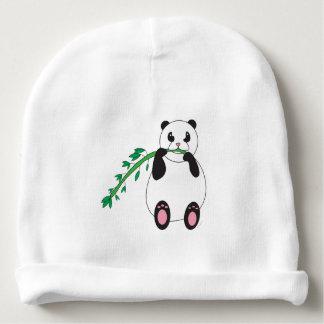 Panda Eating Bamboo Baby Beanie