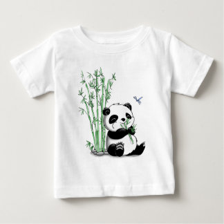 Panda Eating Bamboo Baby T-Shirt