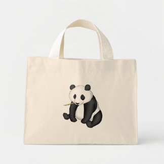 Panda Eating Bamboo Canvas Bag