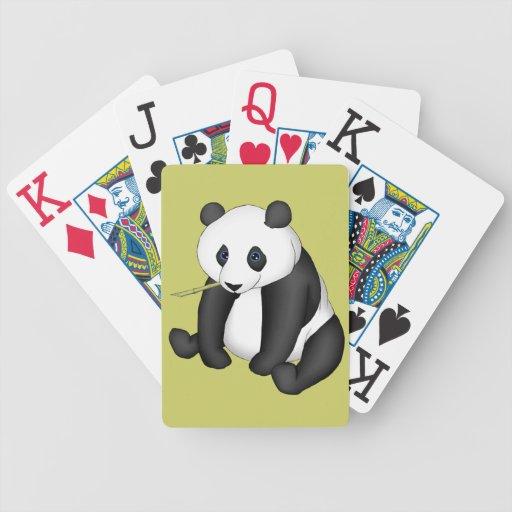 Panda Eating Bamboo Bicycle Card Deck