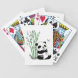 Panda Eating Bamboo Bicycle Playing Cards