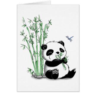 Panda Eating Bamboo Card