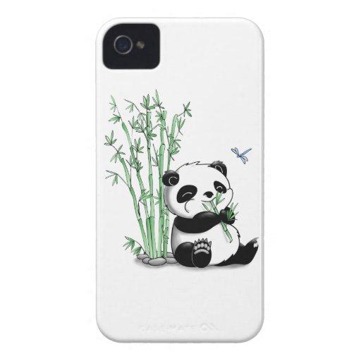 Panda Eating Bamboo iPhone 4 Cases