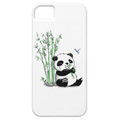 Panda Eating Bamboo iPhone 5 Case