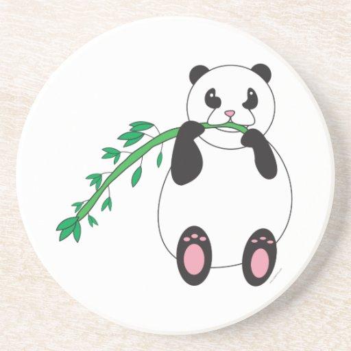 Panda Eating Bamboo Coaster