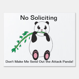 Panda Eating Bamboo Customizable Yard Sign