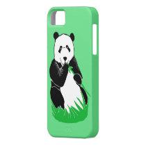 Panda Eating Bamboo Green iPhone 5/5s Case