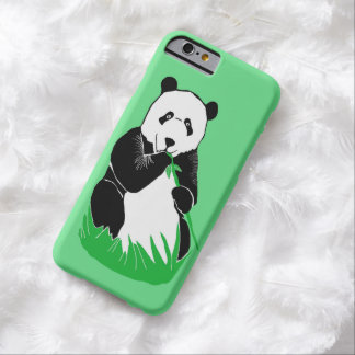 Panda Eating Bamboo Green iPhone 6 Case