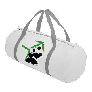 Panda Eating Bamboo Gym Duffel Bag