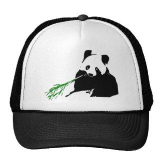 Panda Eating Bamboo Hats