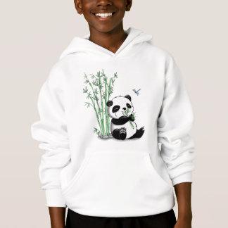 Panda Eating Bamboo Hoodie
