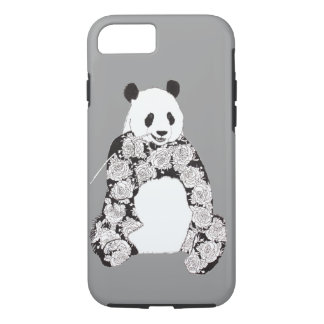 Panda Eating Bamboo Illustration iPhone 8/7 Case