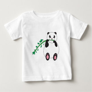 Panda Eating Bamboo Infant T-shirt