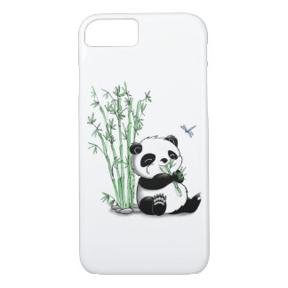 Panda Eating Bamboo iPhone 7 Case