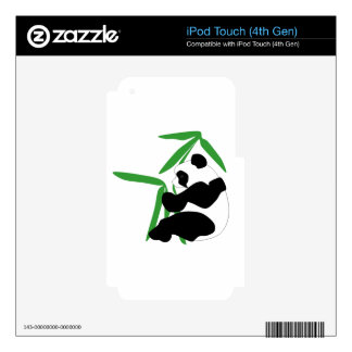 Panda Eating Bamboo iPod Touch 4G Decals