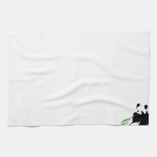 Panda eating Bamboo Hand Towel