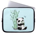 Panda Eating Bamboo Laptop Sleeves