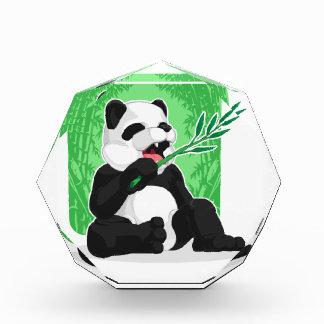 Panda Eating Bamboo Leaves Acrylic Award