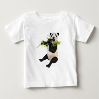 Panda Eating Bamboo Leaves Baby T-Shirt