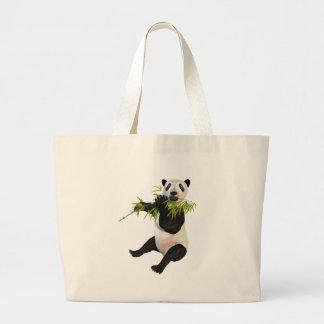 Panda Eating Bamboo Leaves Jumbo Tote Bag