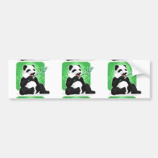 Panda Eating Bamboo Leaves Bumper Sticker