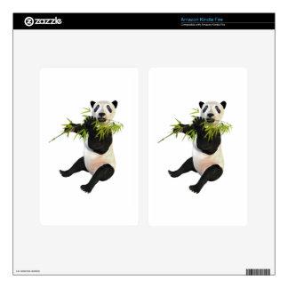 Panda Eating Bamboo Leaves Skin For Kindle Fire