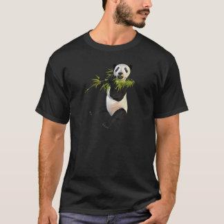 Panda Eating Bamboo Leaves T-Shirt