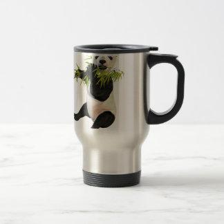 Panda Eating Bamboo Leaves Travel Mug