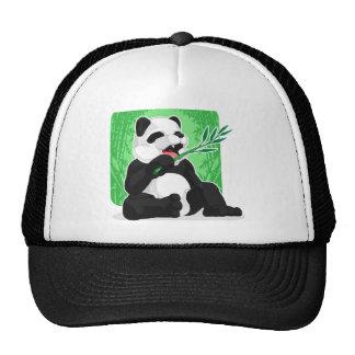 Panda Eating Bamboo Leaves Trucker Hat
