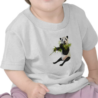 Panda Eating Bamboo Leaves Tee Shirt