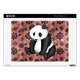 Panda Eating Bamboo On Vintage Background Skins For Acer Chromebook