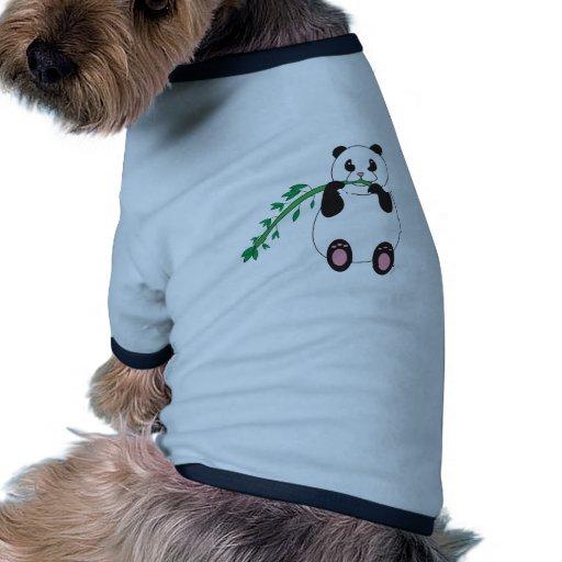 Panda Eating Bamboo Pet Outfit Dog T Shirt