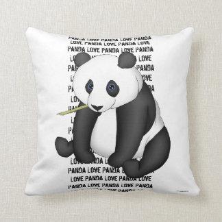 Panda Eating Bamboo Pillow