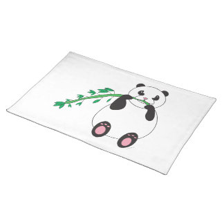 Panda Eating Bamboo Placemat