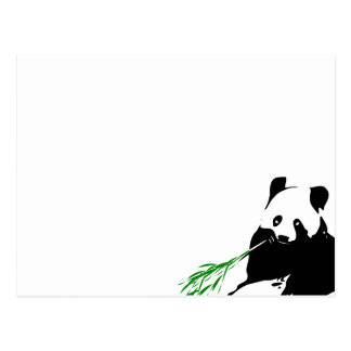 Panda eating Bamboo Postcard