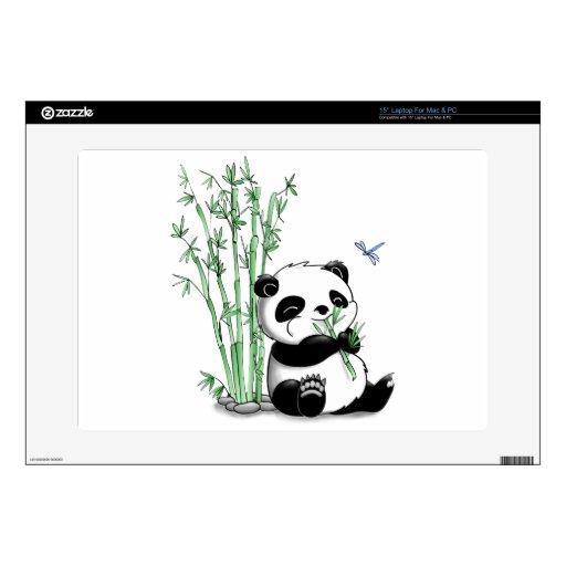 """Panda Eating Bamboo Skin For 15"""" Laptop"""