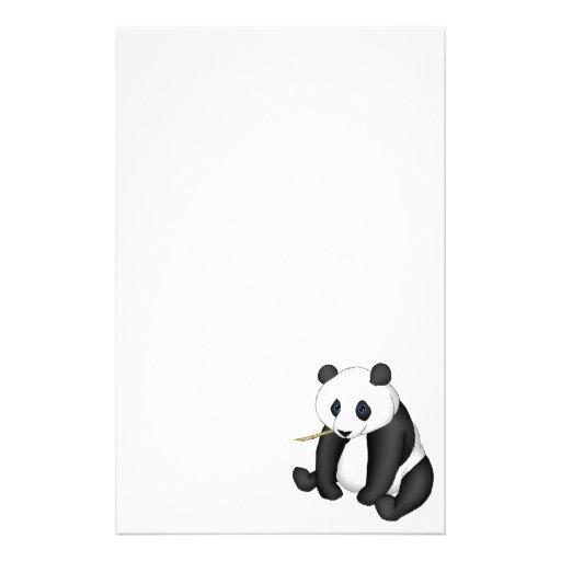 Panda Eating Bamboo Personalized Stationery