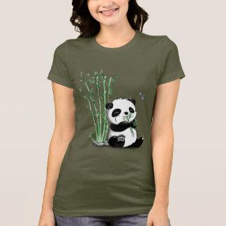 Panda Eating Bamboo T-Shirt