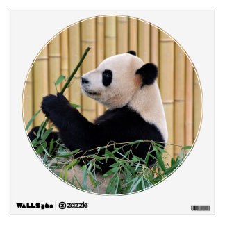 Panda Eating Bamboo Wall Sticker