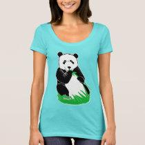Panda Eating Bamboo Women's Scoop Neck T-Shirt