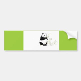 Panda Eating Bumper Sticker