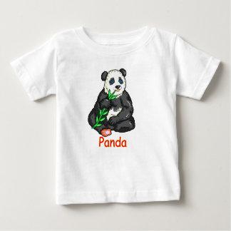 Panda eating  cane. baby T-Shirt