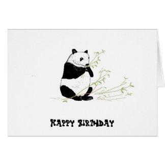 Panda Eating Card