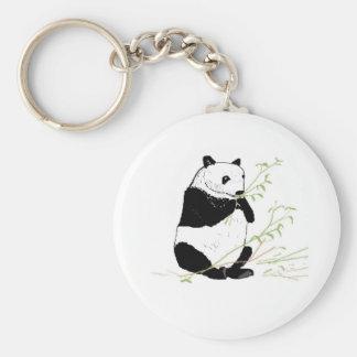 Panda Eating Keychain
