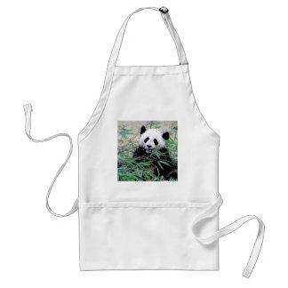 Panda Eating Leaves Aprons